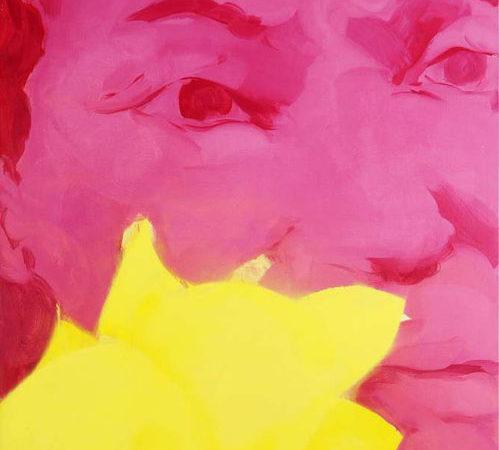 Portret z kwiatami